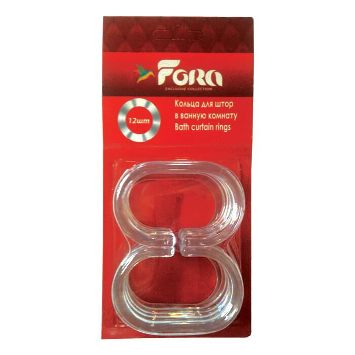 Кольца для штор Fora С пластиковые прозрачные