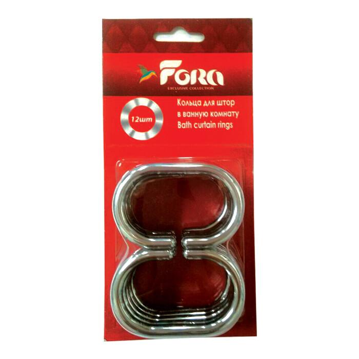 Кольца для штор Fora С хромированные пластиковые (12шт)