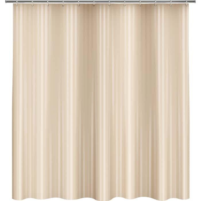 Фото - Шторка Fora для ванной однотонная Полоска бежевый шторка fora trendy для ванной комнаты розовая