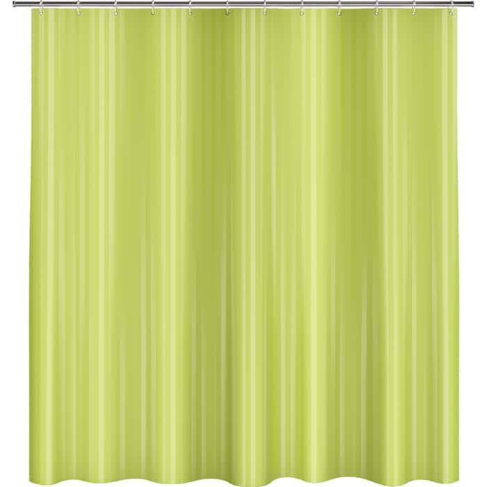 Фото - Шторка Fora для ванной однотонная Полоска зеленый шторка fora trendy для ванной комнаты розовая