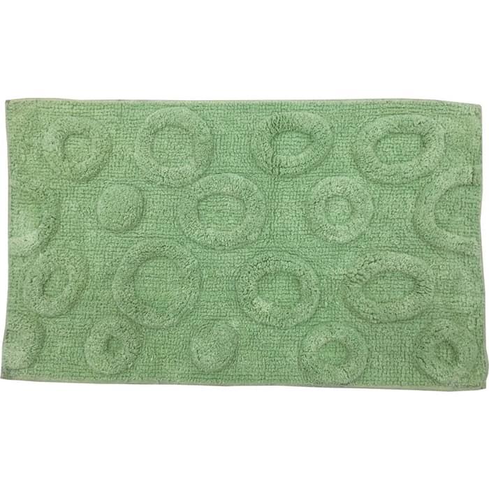 Коврик для ванной Fora Биохлопок Круги зелёный 50*80см
