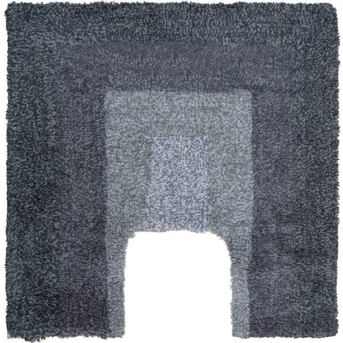 Коврик для ванной Fora LOFT хлопковый Прямоугольник серый с U- вырезом 50*50см