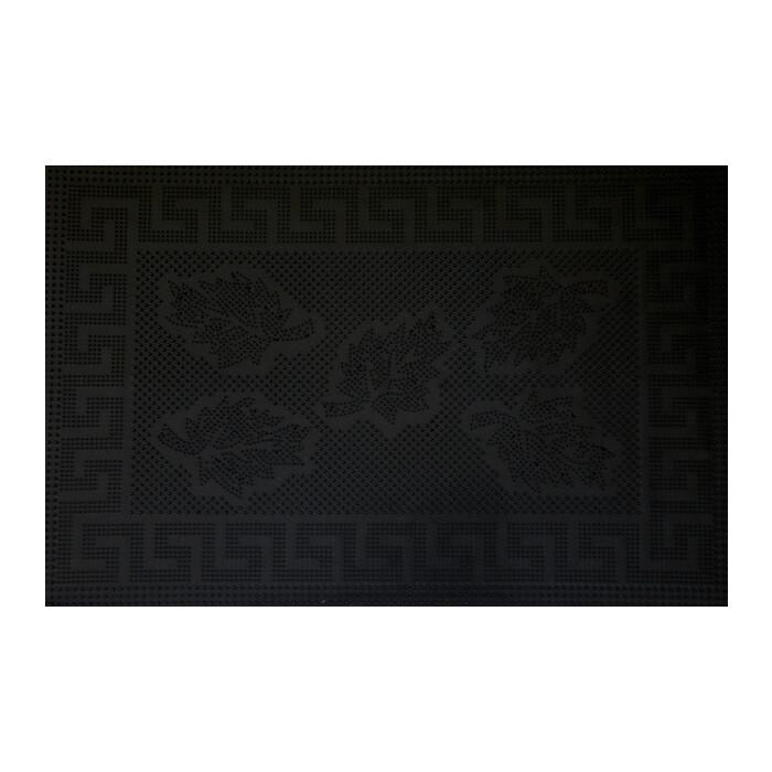 Коврик Fora черный придверный Клён 40*60см