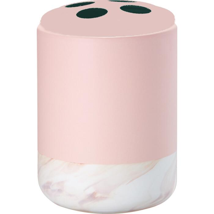 Стакан Fora TRENDY для зубных щеток настольный розовый керамика