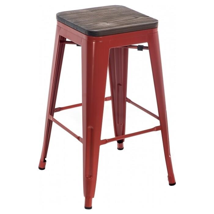 Барный стул Woodville Tolix Bar wood CColl T-2103B-26 red/brown walnut