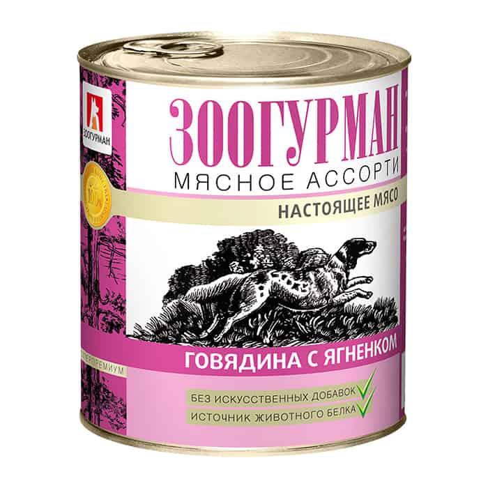 Консервы Зоогурман Мясное Ассорти Говядина с ягненком для взрослых собак 750г
