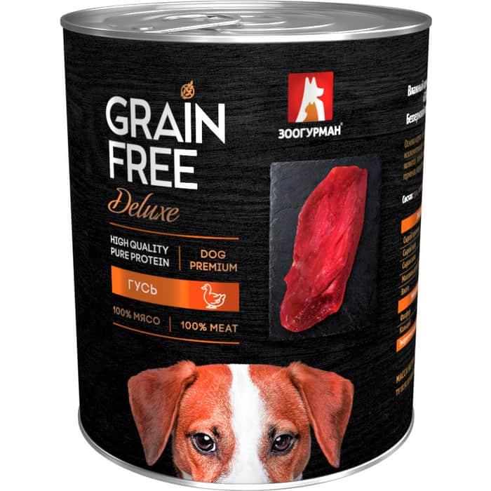 Консервы Зоогурман Grain Free Беззерновой с гусем для взрослых собак 350г