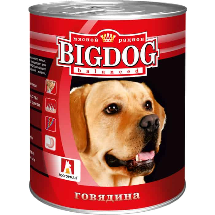 Консервы Зоогурман BIG DOG Говядина для взрослых собак 850г