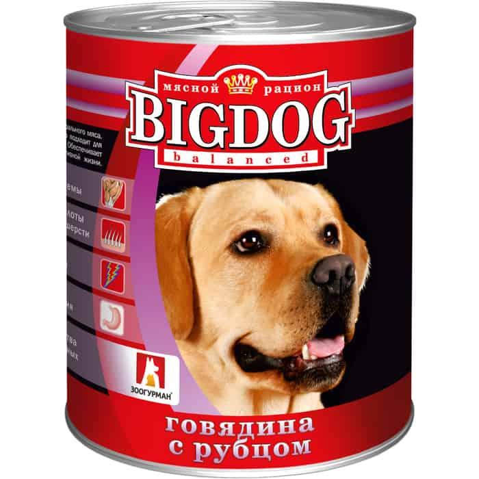 Консервы Зоогурман BIG DOG Говядина с рубцомдля взрослых собак 850г