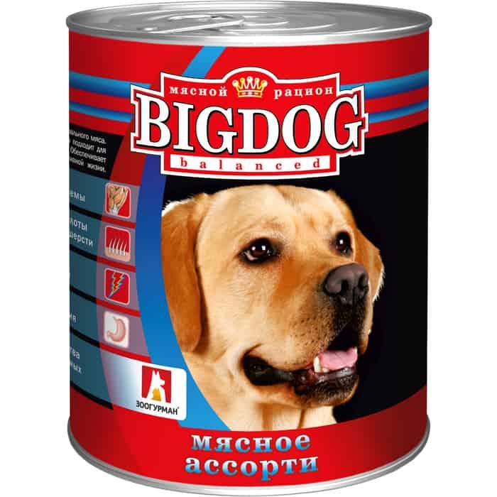 Консервы Зоогурман BIG DOG Мясное ассорти для взрослых собак 850г