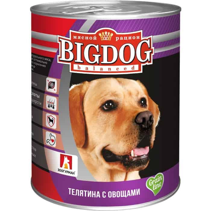 Консервы Зоогурман BIG DOG Телятина с овощамидля взрослых собак 850г