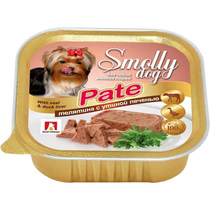 Консервы Зоогурман Смолли Дог Телятина с утиной печенью (патэ) для взрослых собак 100г