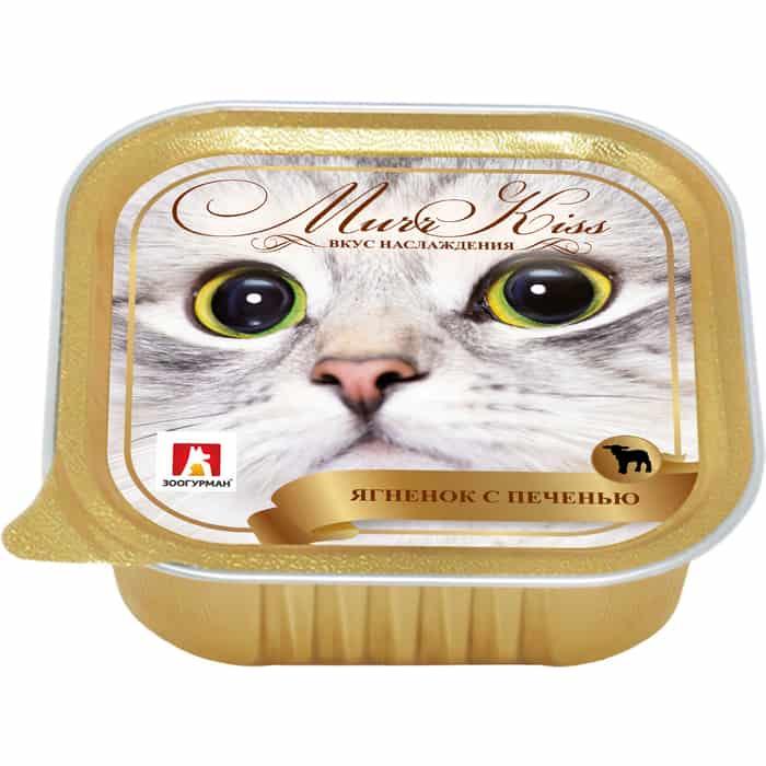 Консервы Зоогурман МуррКисс Ягненок с печенью для взрослых кошек 100г