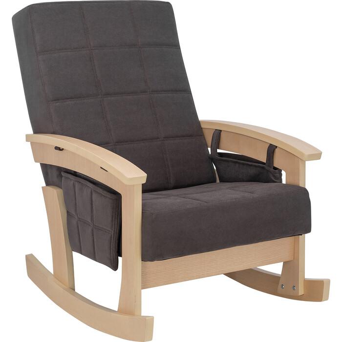 Кресло-качалка Мебель Импэкс Нордик натуральное дерево ткань Verona antrazite grey