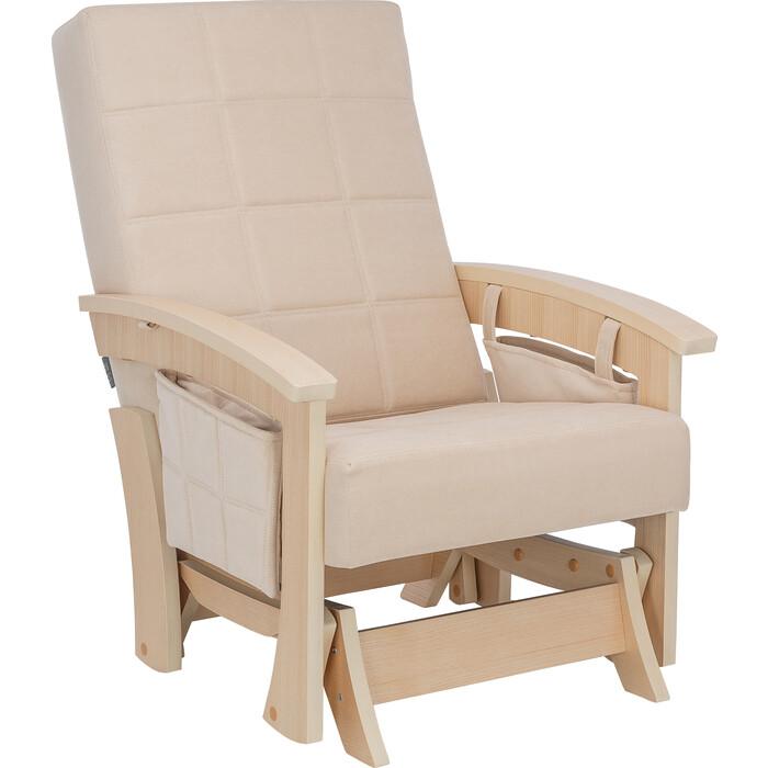 Кресло-качалка глайдер Мебель Импэкс Нордик натуральное дерево ткань Verona vanilla