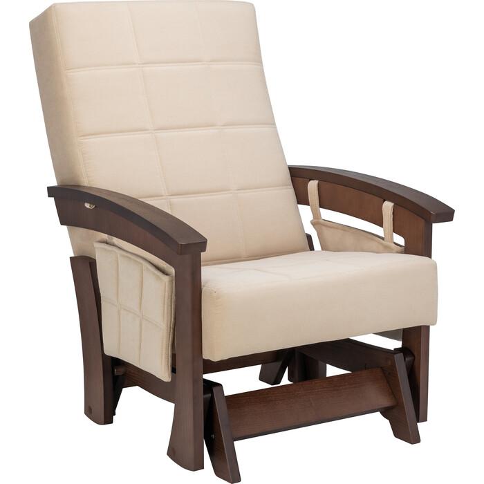 Кресло-качалка глайдер Мебель Импэкс Нордик орех ткань Verona vanilla