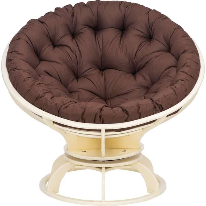 Кресло вращающееся Мебель Импэкс Папасан с подушкой дуб шампань, подушка Tesla chocolate подушка на садовую мебель ikea холло