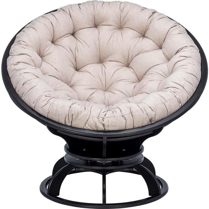 Кресло вращающееся Мебель Импэкс Папасан с подушкой венге, подушка Tesla beige подушка на садовую мебель ikea холло