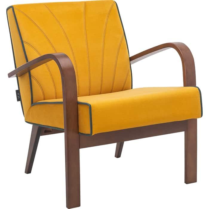 Кресло для отдыха Мебель Импэкс Шелл орех ткань Fancy 48, кант 37
