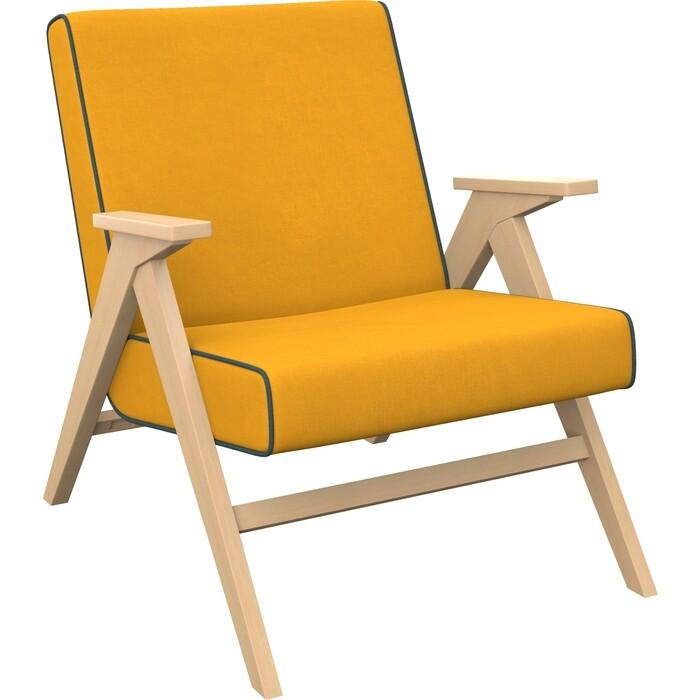 Кресло для отдыха Мебель Импэкс Вест натуральное дерево ткань Fancy 48, кант 37