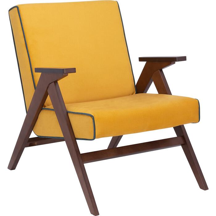 Кресло для отдыха Мебель Импэкс Вест орех ткань Fancy 48, кант 37