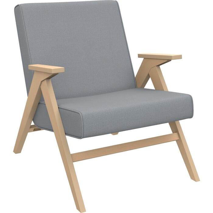 Кресло для отдыха Мебель Импэкс Вест натуральное дерево ткань Fancy 85, кант 85
