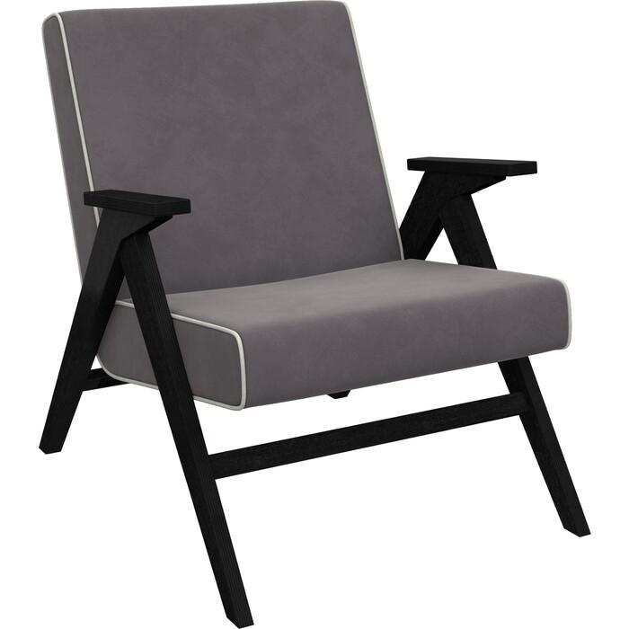 Кресло для отдыха Мебель Импэкс Вест венге ткань Verona antrazite grey, кант light grey