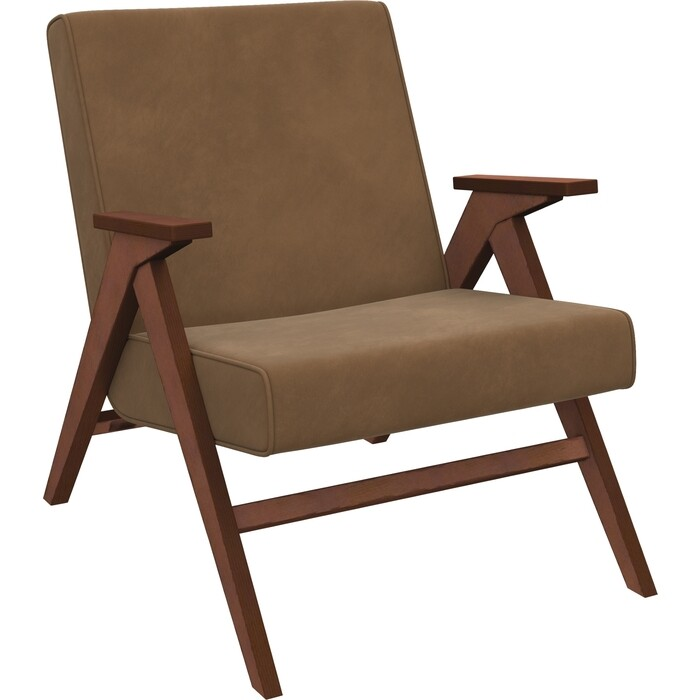 Кресло для отдыха Мебель Импэкс Вест орех ткань Verona brown, кант brown