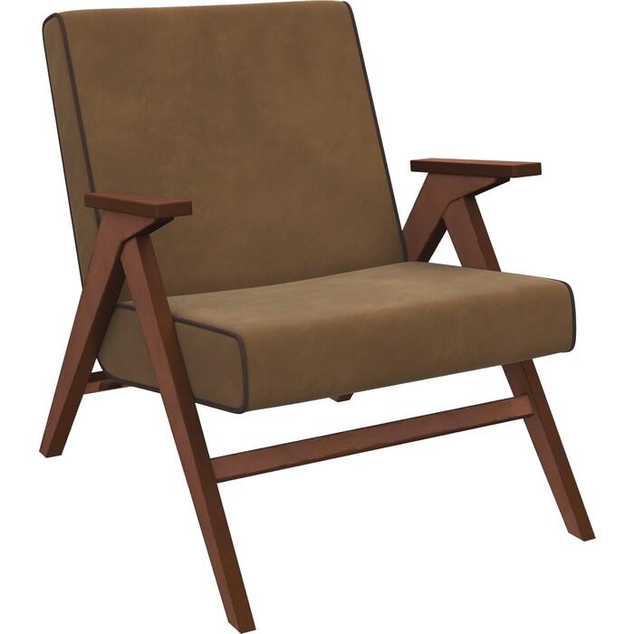 Кресло для отдыха Мебель Импэкс Вест орех ткань Verona brown, кант wenge