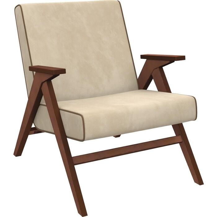 Кресло для отдыха Мебель Импэкс Вест орех ткань Verona vanilla, кант brown