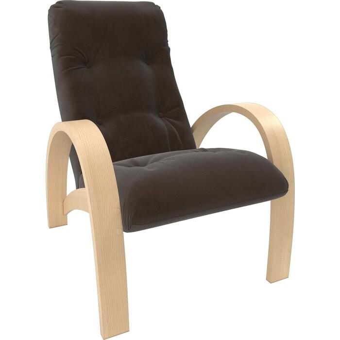 Кресло Мебель Импэкс Модель S7 натуральное дерево/шпон ткань Verona brown