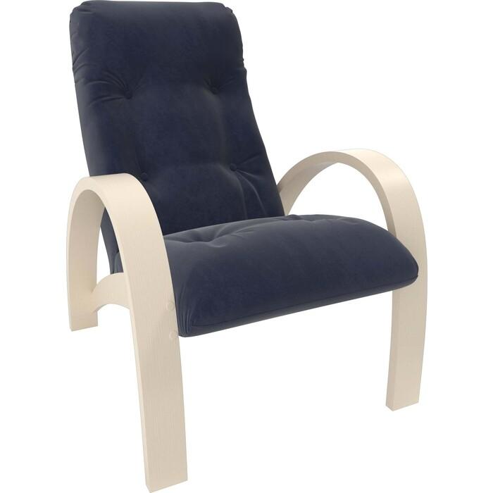 Кресло Мебель Импэкс Модель S7 дуб шампань/шпон ткань Verona denim blue