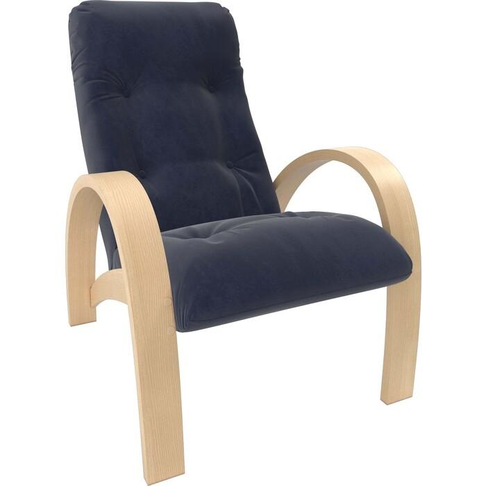 Кресло Мебель Импэкс Модель S7 натуральное дерево/шпон ткань Verona denim blue