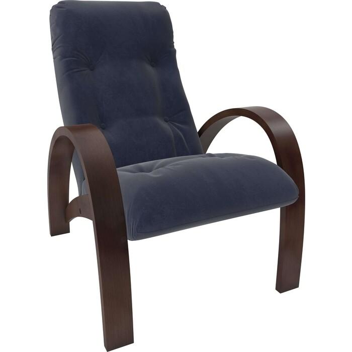Кресло Мебель Импэкс Модель S7 орех/шпон ткань Verona denim blue