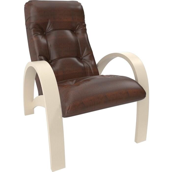 Кресло Мебель Импэкс Модель S7 дуб шампань/шпон к/з antik crocodile