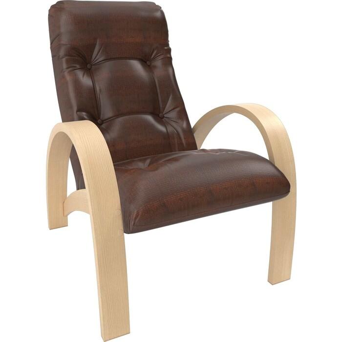 Кресло Мебель Импэкс Модель S7 натуральное дерево/шпон, к/з antik crocodile