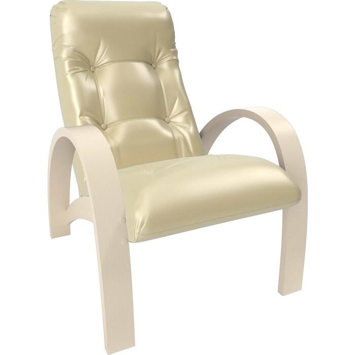 Кресло Мебель Импэкс Модель S7 дуб шампань/шпон к/з oregon perlamutr 106