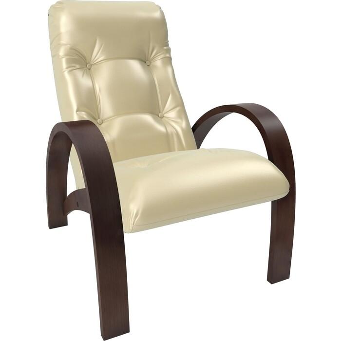 Кресло Мебель Импэкс Модель S7 орех/шпон к/з oregon perlamutr 106