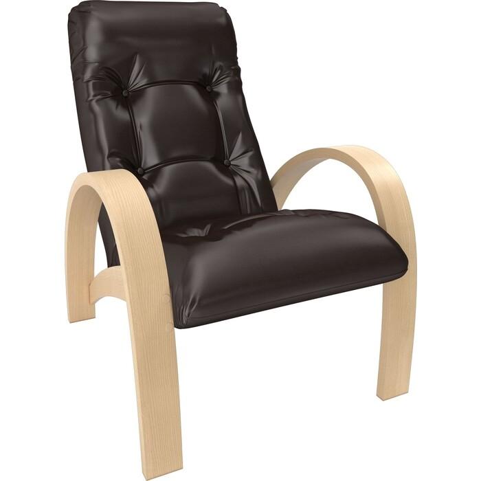 Кресло Мебель Импэкс Модель S7 натуральное дерево/шпон к/з oregon perlamutr 120