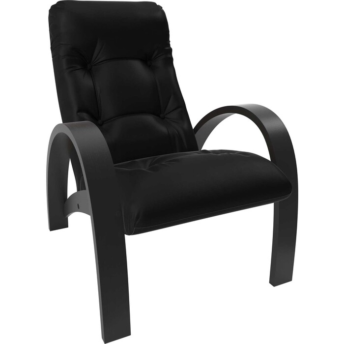 Фото - Кресло Мебель Импэкс Модель S7 венге/шпон к/з Vegas lite black кресло качалка мебель импэкс модель 707 венге к з vegas lite amber