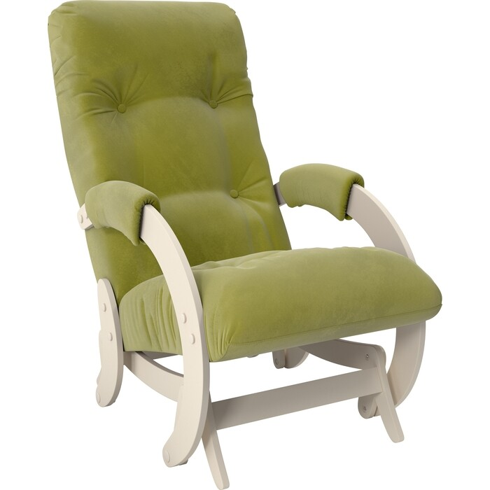 Кресло-качалка глайдер Мебель Импэкс Модель 68 дуб шампань ткань Verona apple green