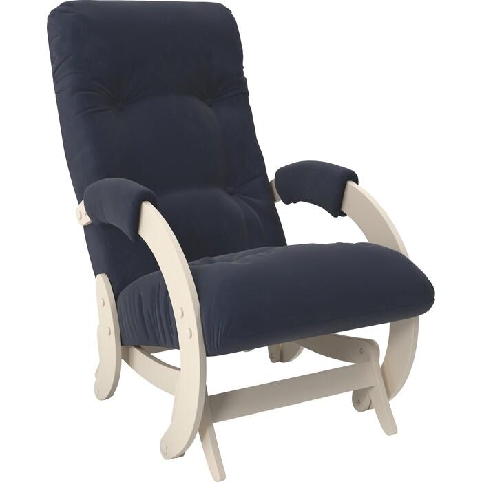 Кресло-качалка глайдер Мебель Импэкс Модель 68 дуб шампань ткань Verona denim blue