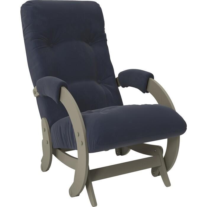 Кресло-качалка глайдер Мебель Импэкс Модель 68 серый ясень ткань Verona denim blue