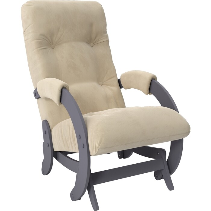 Кресло-качалка глайдер Мебель Импэкс Модель 68 маренго ткань Verona vanilla