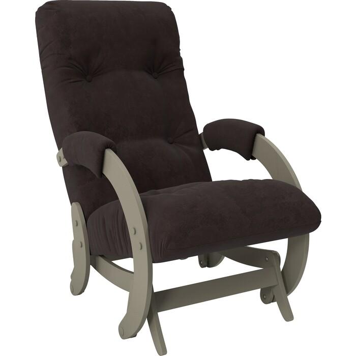 Кресло-качалка глайдер Мебель Импэкс Модель 68 серый ясень ткань Verona wenge
