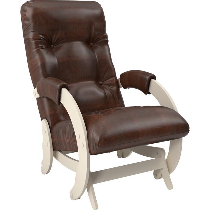 Кресло-качалка глайдер Мебель Импэкс Модель 68 дуб шампань к/з antik crocodile