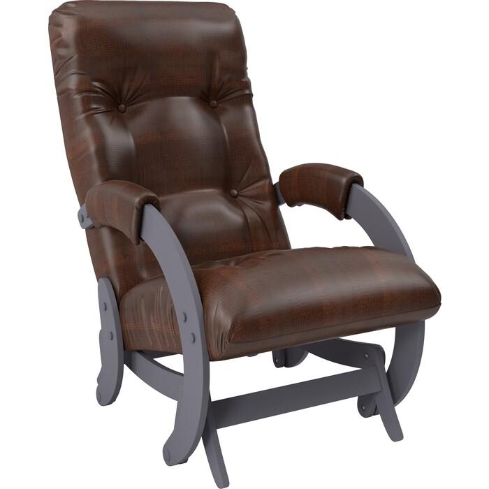 Кресло-качалка глайдер Мебель Импэкс Модель 68 маренго к/з antik crocodile