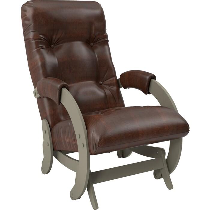 Кресло-качалка глайдер Мебель Импэкс Модель 68 серый ясень к/з antik crocodile