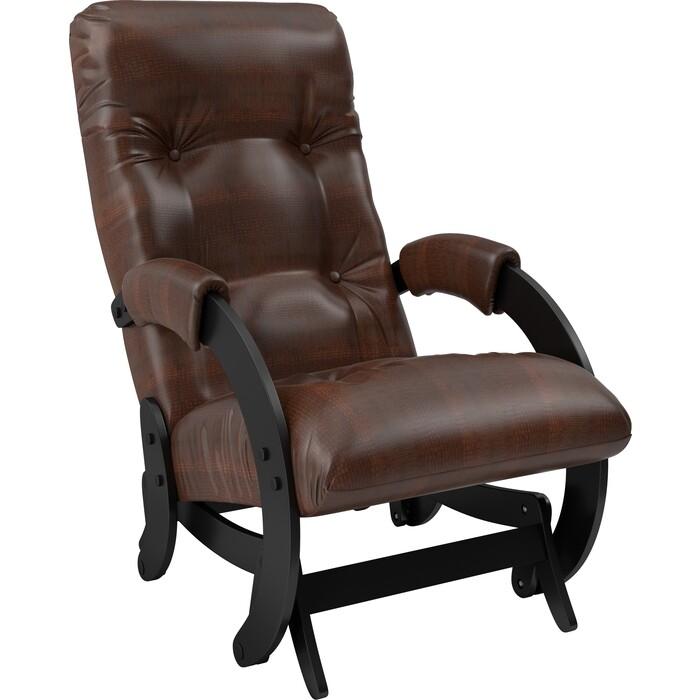Кресло-качалка глайдер Мебель Импэкс Модель 68 венге к/з antik crocodile