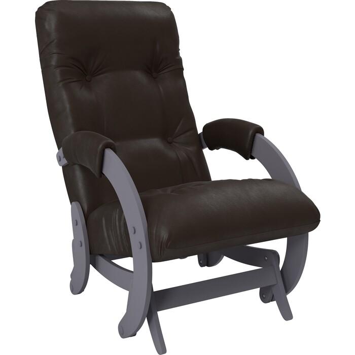Кресло-качалка глайдер Мебель Импэкс Модель 68 маренго к/з dundi 108 кресло алвест av 108 pl 727 mk ткань 415 серая с черной ниткой